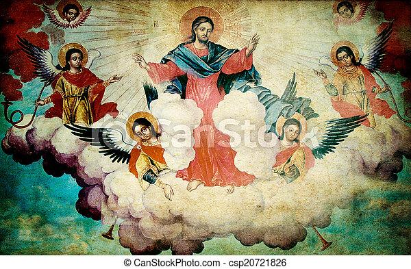 orthodox mural  - csp20721826