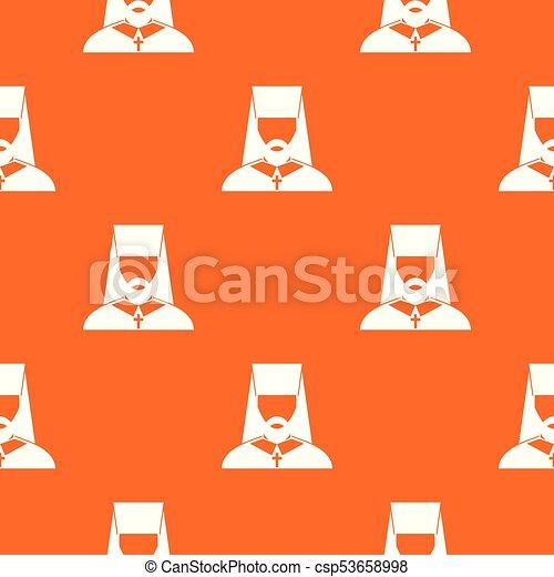 Orthodox priest pattern seamless - csp53658998