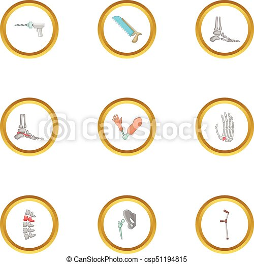 orthopedic surgery icons set cartoon style orthopedic vector rh canstockphoto com plastic surgery clipart knee surgery clipart