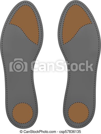 48c4df4729 Orthotic insoles on a white background.Vector illustration. - csp57836135
