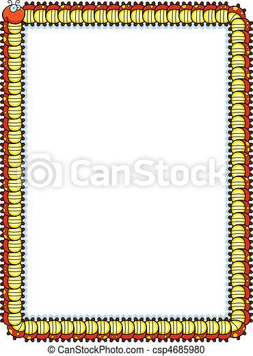 oruga, frontera - csp4685980