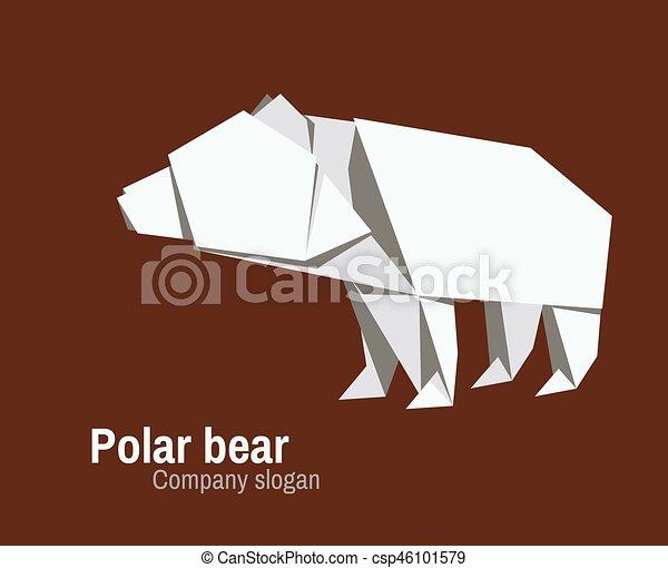 Polar Bear origami for Polar Bear Fun Day   Origami easy, Origami ...   388x450
