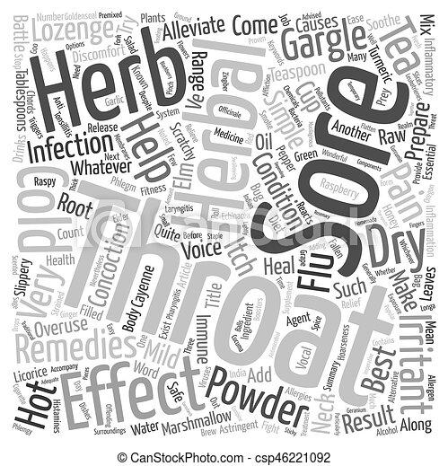 orvoslás, fogalom, fájó, szöveg, hoarseness, wordcloud, háttér, torok, füvészkönyv, legjobb - csp46221092