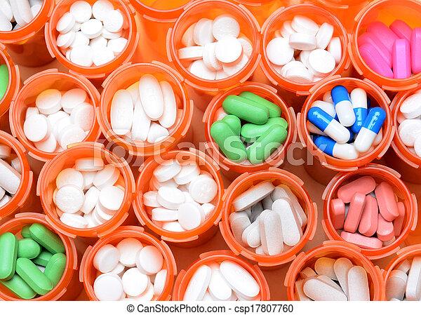 orvosság, recept palack - csp17807760
