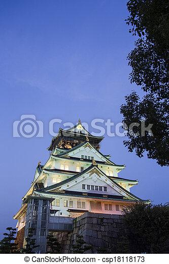 Osaka castle. Japan - csp18118173