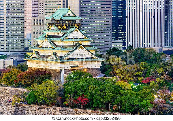 Osaka Castle, Japan - csp33252496