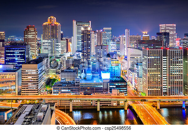 Osaka, Japan Cityscape - csp25498556