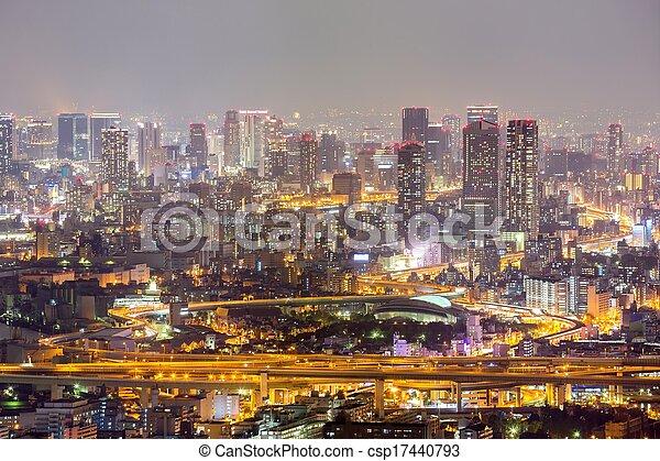 Osaka night - csp17440793