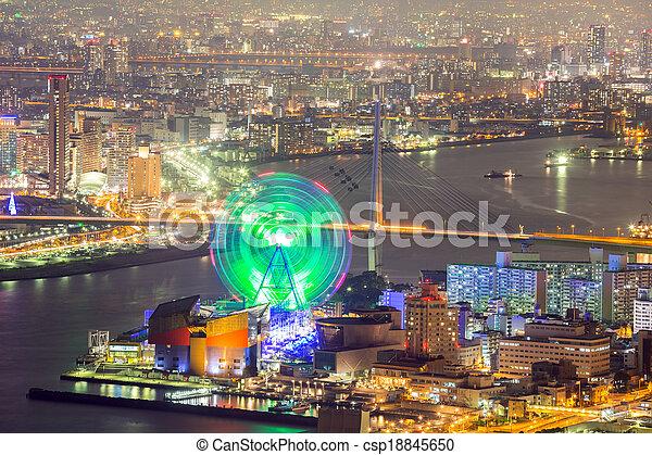 Osaka skyline - csp18845650