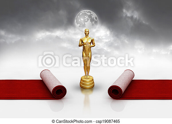 Oscar on red carpet - csp19087465