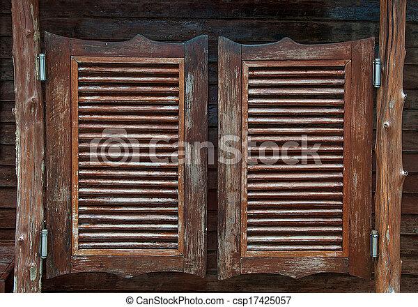 oscillation, bar, vieux, portes, occidental - csp17425057