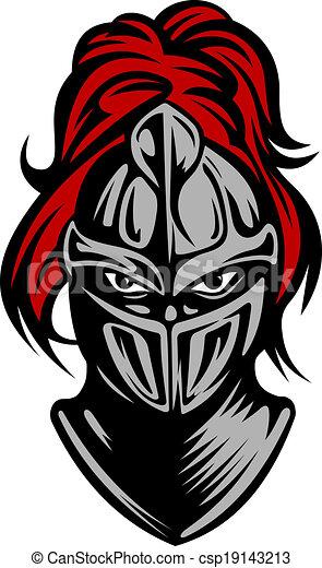 Caballero oscuro medieval - csp19143213