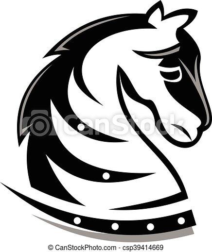 Logo Caballo Oscuro - csp39414669