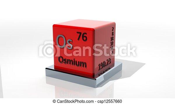 Osmium 3d Chemical Element Of The Periodic Stock Illustration