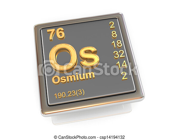 Osmium Chemical Element 3d Drawings Search Clipart Illustration