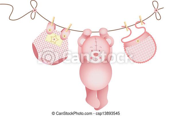 Chica de oso de peluche - csp13893545