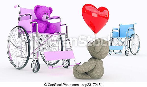 osos, love., concepto, dos, teddy - csp23172154