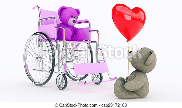 osos, love., concepto, dos, teddy - csp23172163