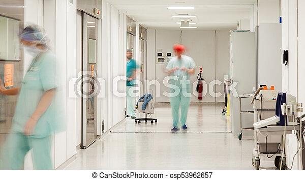 ospedale, sterile, corridoio - csp53962657