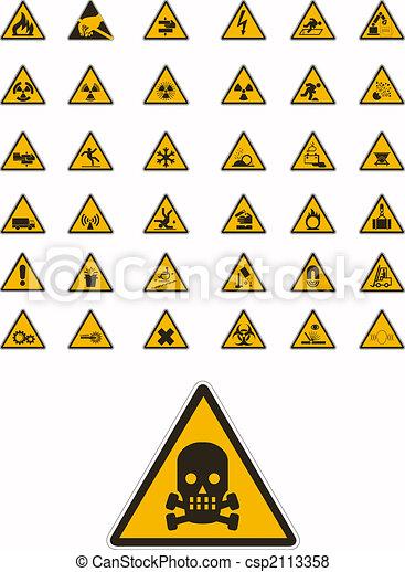ostrzeżenie, bezpieczeństwo, znaki - csp2113358