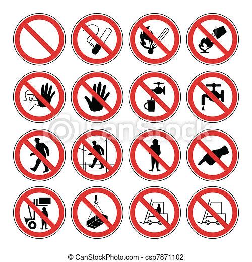 ostrzeżenie, zdrowie, bezpieczeństwo, ryzykować, & - csp7871102