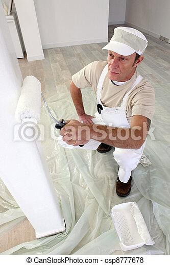 oszlop, kereskedő, festmény - csp8777678