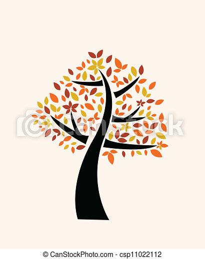 Árbol de otoño - csp11022112