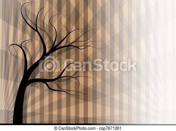 Árbol en otoño - csp7671261
