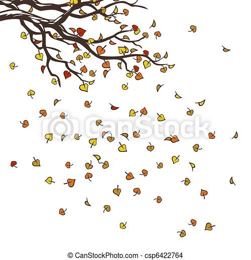 otoño, árbol - csp6422764