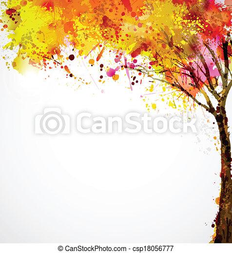 Árbol de otoño - csp18056777