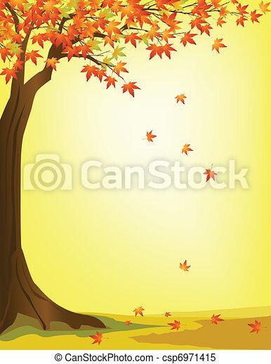 Trasfondo de árboles de otoño - csp6971415