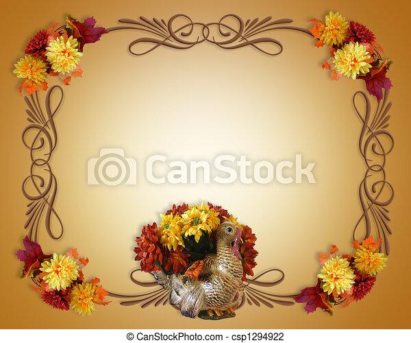 Día de Acción de Gracias en otoño - csp1294922