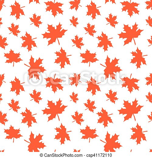 Otoño, cosechar, papel, patrón, hojas, envoltura, seamless, leaves ...