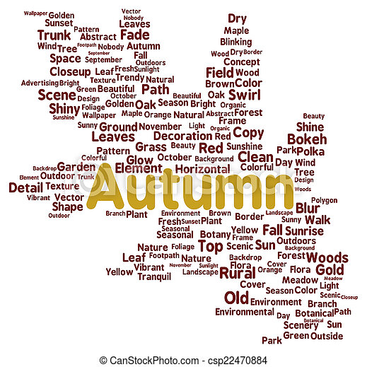 En forma de nube de otoño - csp22470884