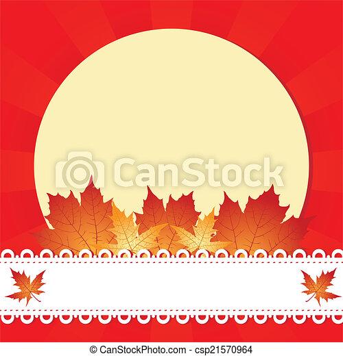 Marco de saludo de otoño - csp21570964