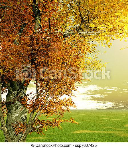 Escenario de otoño - csp7607425