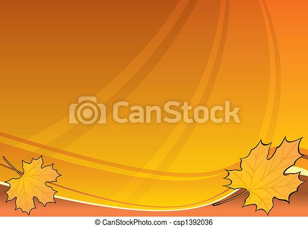 Un fondo de otoño - csp1392036