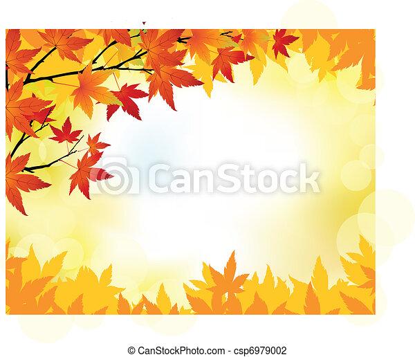otoño, plano de fondo - csp6979002