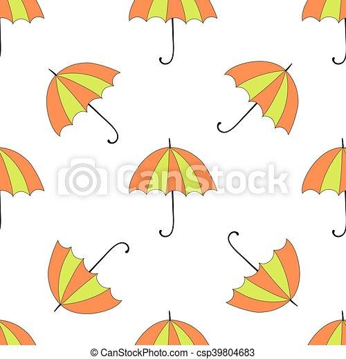 Antecedentes sin humedad con sombrillas otoñales y colores - csp39804683