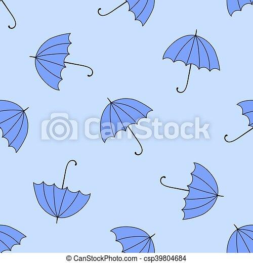 Antecedentes sin humedad con sombrillas otoñales y colores - csp39804684