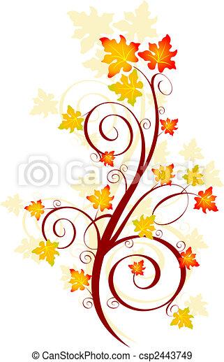 Un remolino de otoño - csp2443749