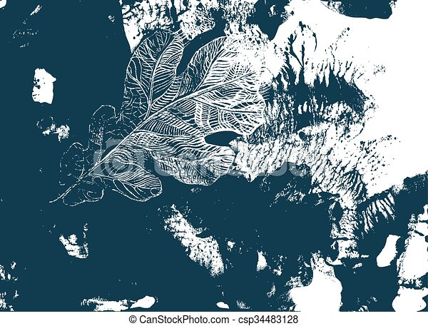 Hoja de roble. Defoliación de otoño - csp34483128