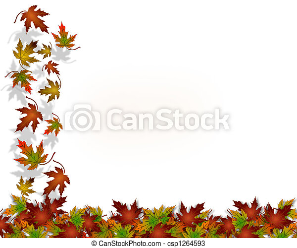 Las hojas de otoño de Acción de Gracias - csp1264593