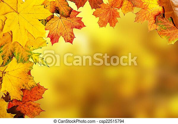 otoño sale, marco - csp22515794