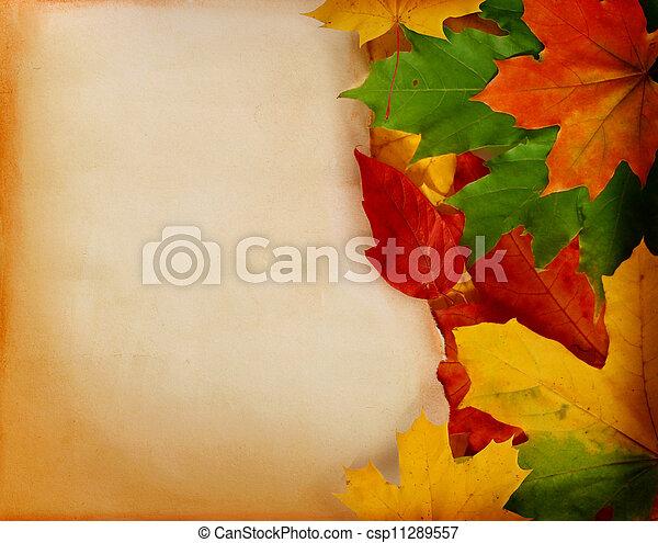otoño sale, papel, viejo - csp11289557