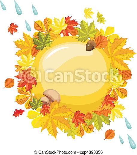Tarjeta de otoño - csp4390356