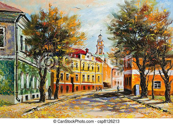 Vitebsk antiguo en otoño - csp8126213