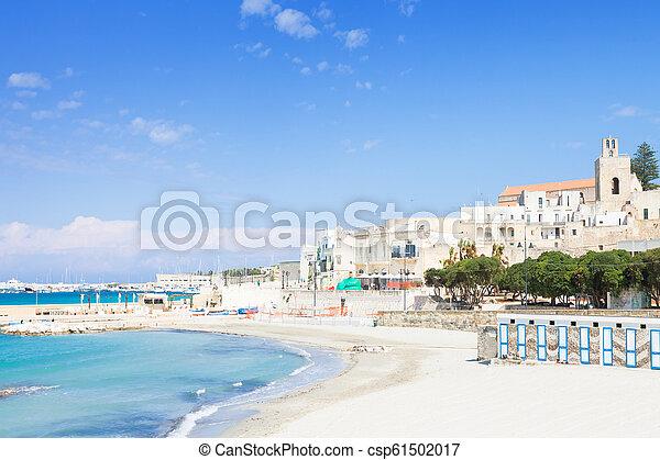 otranto, -, ruhig, otranto, apulia, italien, strandspaziergang, heraus - csp61502017