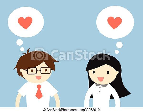 Sentirse enamorados. - csp33062610