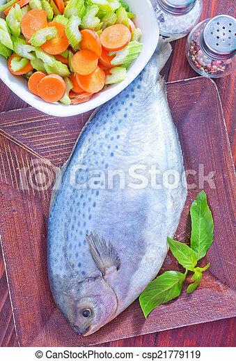 otrzyjcie skórę rybę - csp21779119